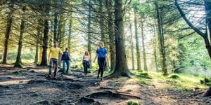 family hike in the dublin mountains