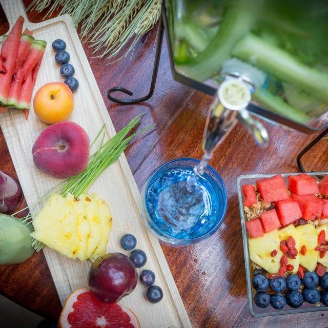Freshly served fruits at Vitality Breakfast