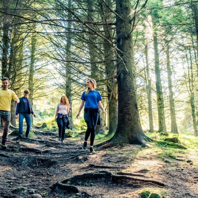 Friends Hiking In The Dublin Mountains