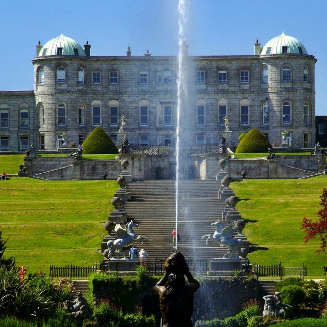 Triton House Lake Fountain Outdoors Wicklow Powerscourt Clayton Leopardstown